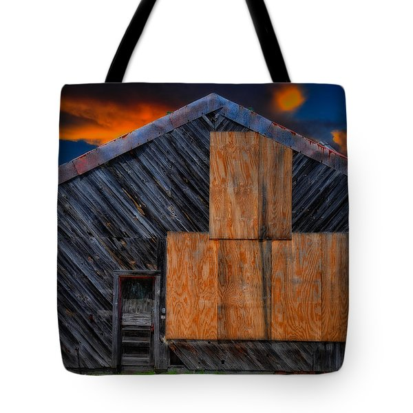 Tote Bag featuring the photograph Empty Barn by Harry Spitz