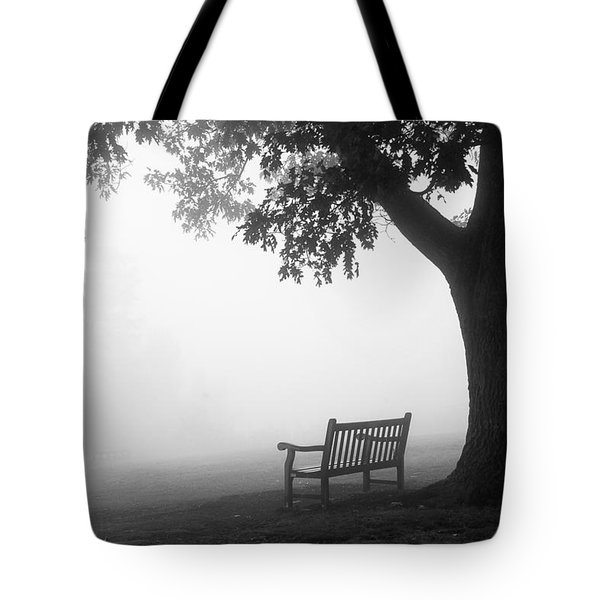 Tote Bag featuring the photograph Empty Bench by Monte Stevens
