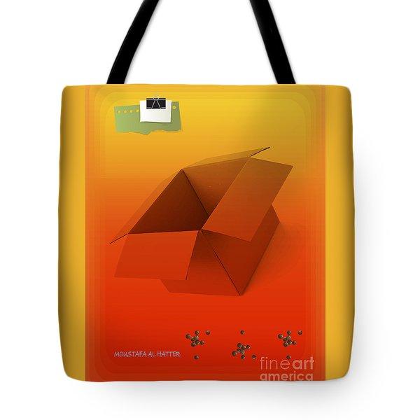 Outside Empty Box Tote Bag by Moustafa Al Hatter