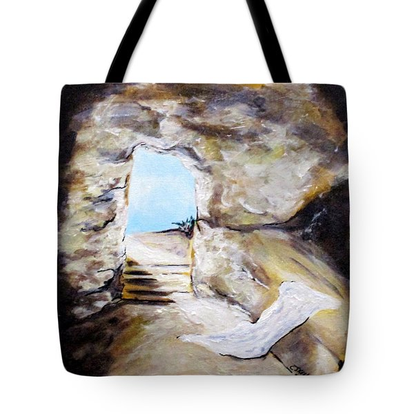 Empty Burial Tomb Tote Bag