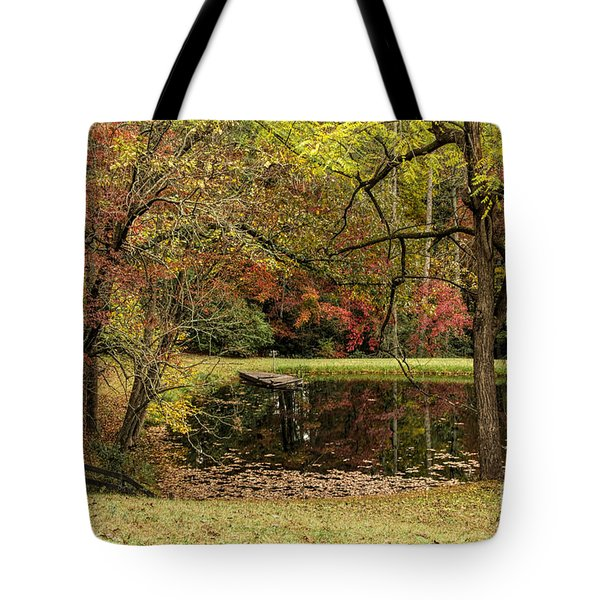 Tote Bag featuring the photograph Empty Dock by Barbara Bowen