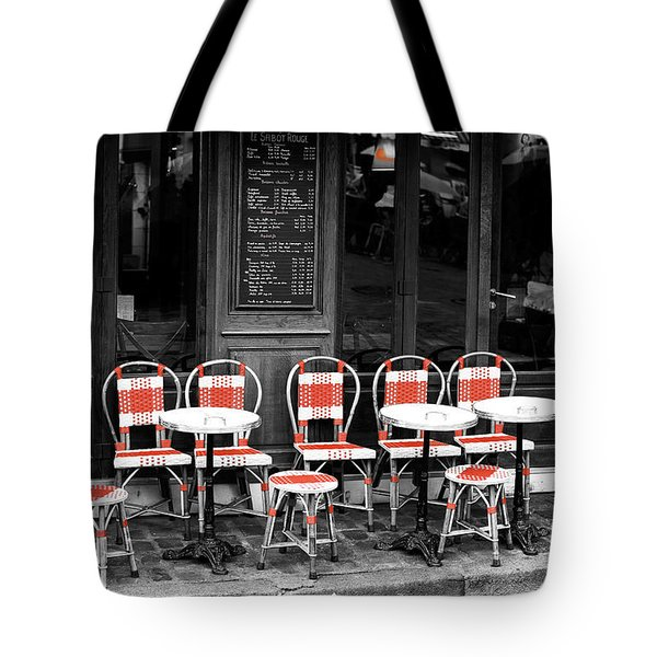 Empty Montmartre Cafe Fusion Tote Bag