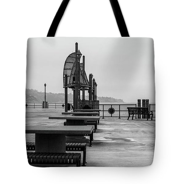 Tote Bag featuring the photograph Empty Pier by Michael Hope