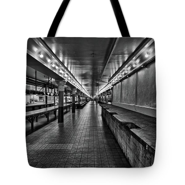 Empty Pike Place Market In Seattle Tote Bag