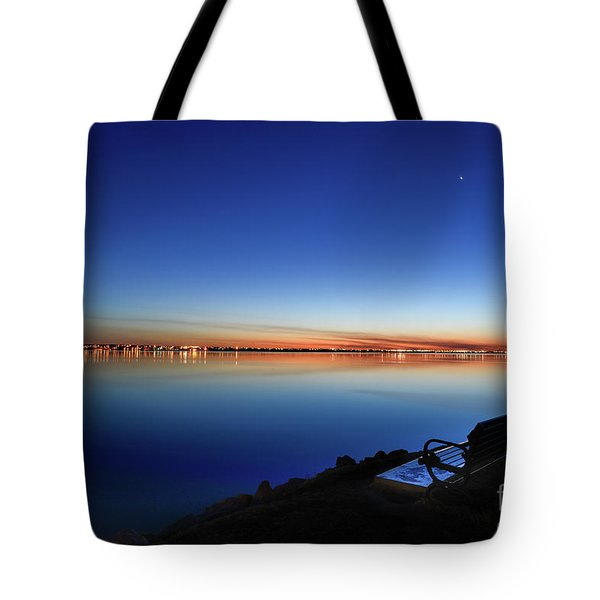 Empty Seat Watching The Moon Tote Bag