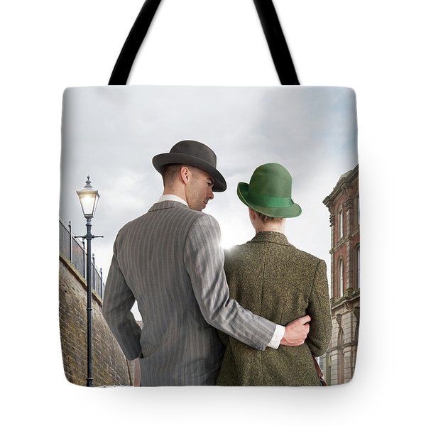 Empty Street With Victorian Buildings Tote Bag