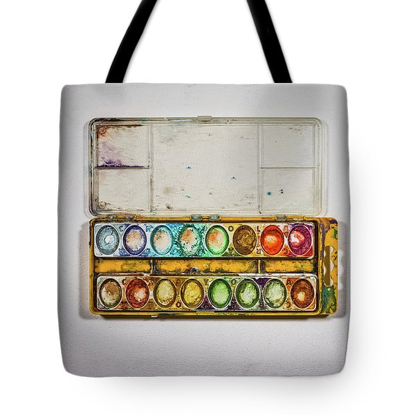 Empty Watercolor Paint Trays Tote Bag