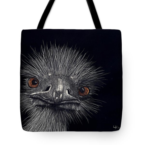 Emus In The Morning Tote Bag by Linda Hiller