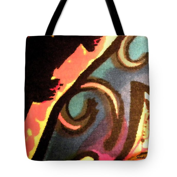 Tote Bag featuring the mixed media En Joy Ll by Sandi OReilly