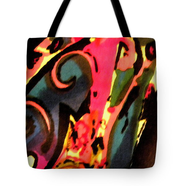 Tote Bag featuring the mixed media En Joy by Sandi OReilly