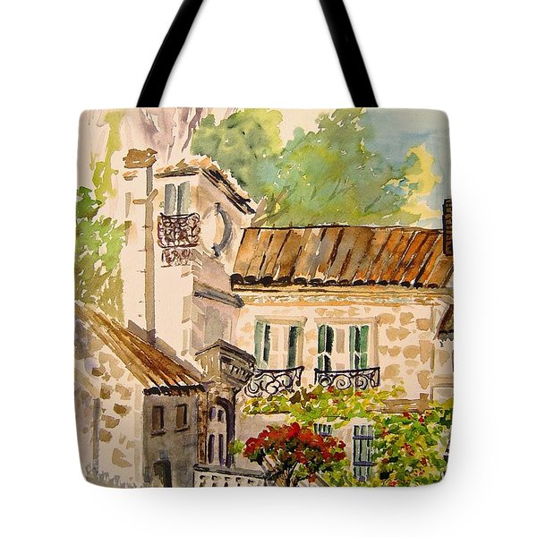 En Plein Air At Moulin De La Roque France Tote Bag by Joanne Smoley