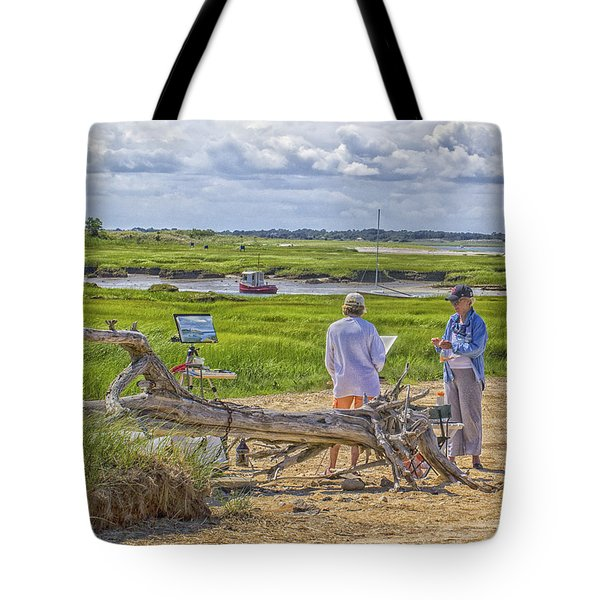 Tote Bag featuring the photograph En Plein Air  Cape Cod by Constantine Gregory