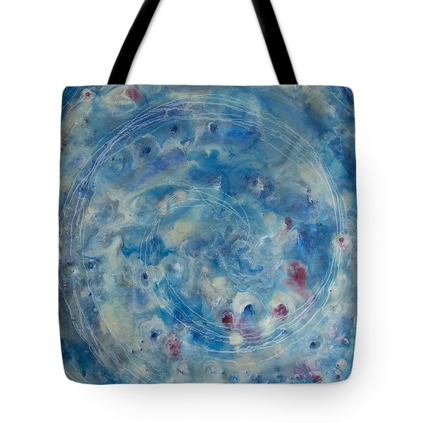 Tote Bag featuring the painting Encaustic Galaxy by Jocelyn Friis