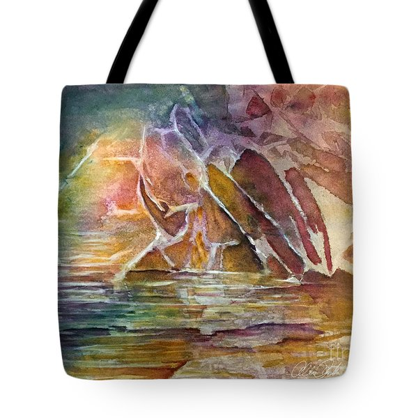 Enchanted Cavern Tote Bag by Allison Ashton
