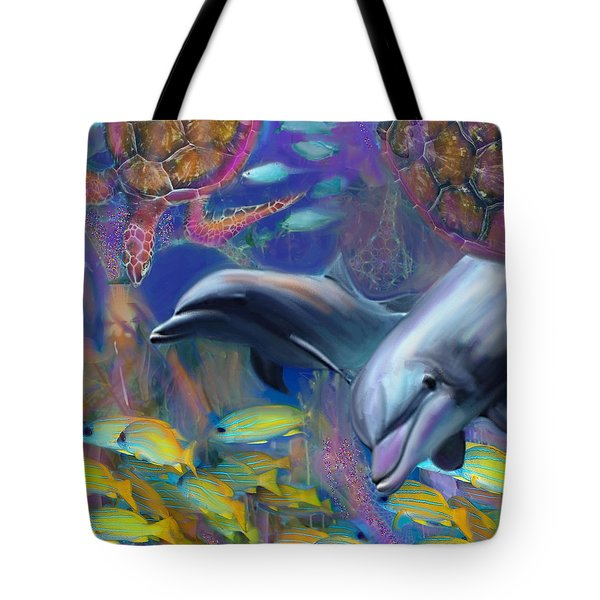 Enchanted Dolphins Tote Bag by Julianne Ososke