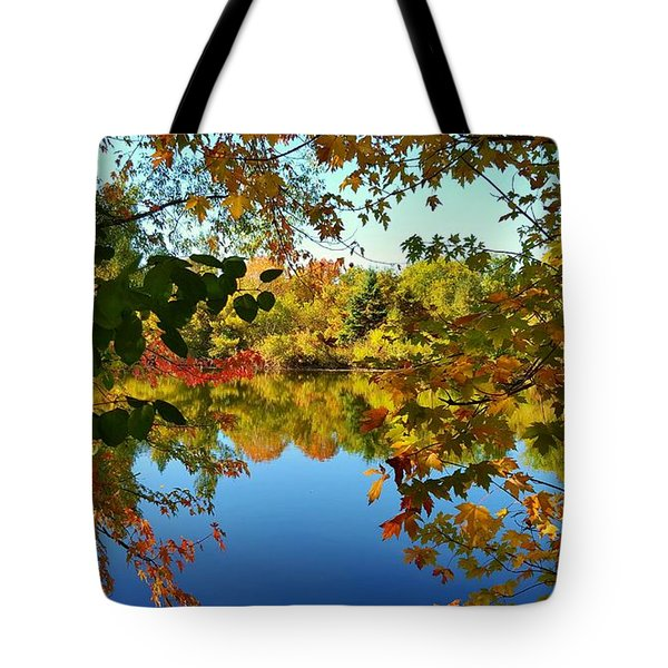 Tote Bag featuring the photograph Enchanted Fall by Valentino Visentini