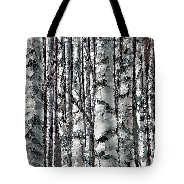 Enchanted Forest -black And White Tote Bag