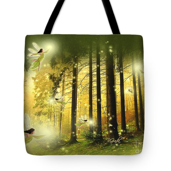Enchanted Forest - Fantasy Art By Giada Rossi Tote Bag by Giada Rossi