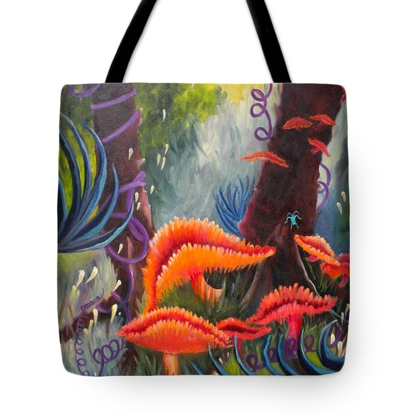 Tote Bag featuring the painting Enchanted Forest by Renate Nadi Wesley