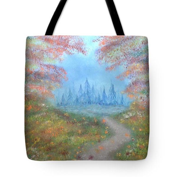 Tote Bag featuring the painting Enchanted Forest by The GYPSY And DEBBIE