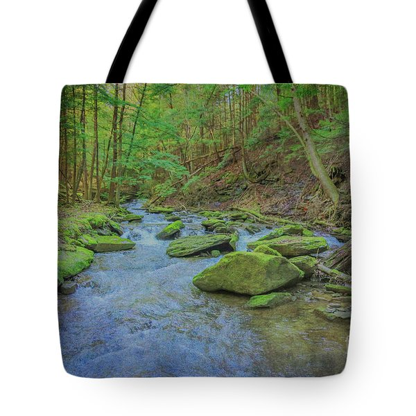 Tote Bag featuring the digital art Enchanted Forest Three by Randy Steele