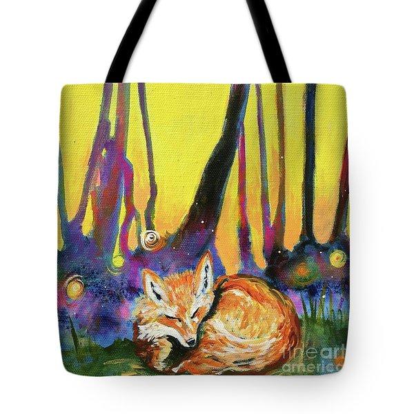 Enchanted Fox Tote Bag by Kim Heil