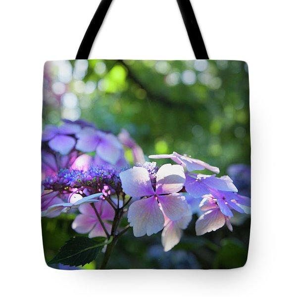 Enchanted Hydrangea Tote Bag by Theresa Tahara