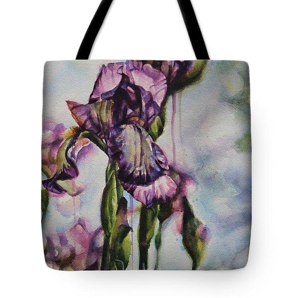 Enchanted Iris Garden Tote Bag
