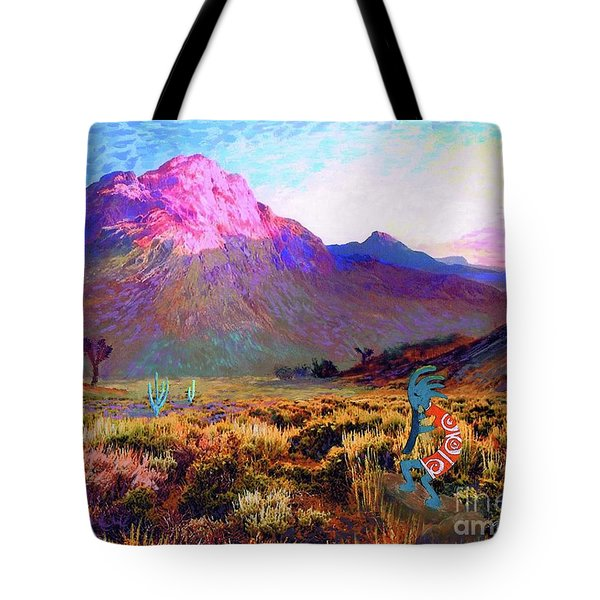Enchanted Kokopelli Dawn Tote Bag