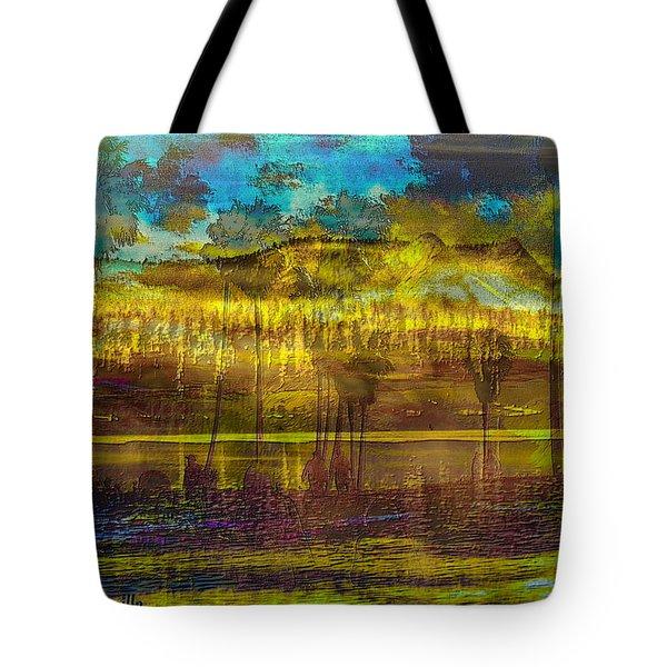 Tote Bag featuring the digital art Enchanted Land by Visual Artist Frank Bonilla