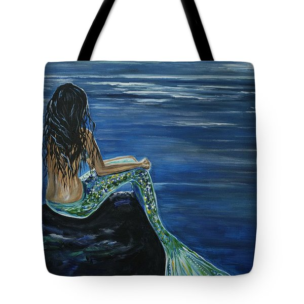 Enchanted Mermaid Tote Bag by Leslie Allen