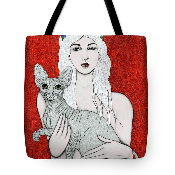 Tote Bag featuring the mixed media Enchanted by Natalie Briney