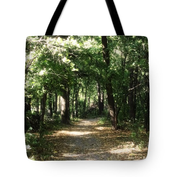 Tote Bag featuring the photograph Enchanted Path by Cendrine Marrouat
