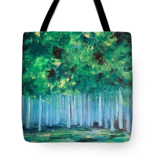 Enchanted Poplars Tote Bag
