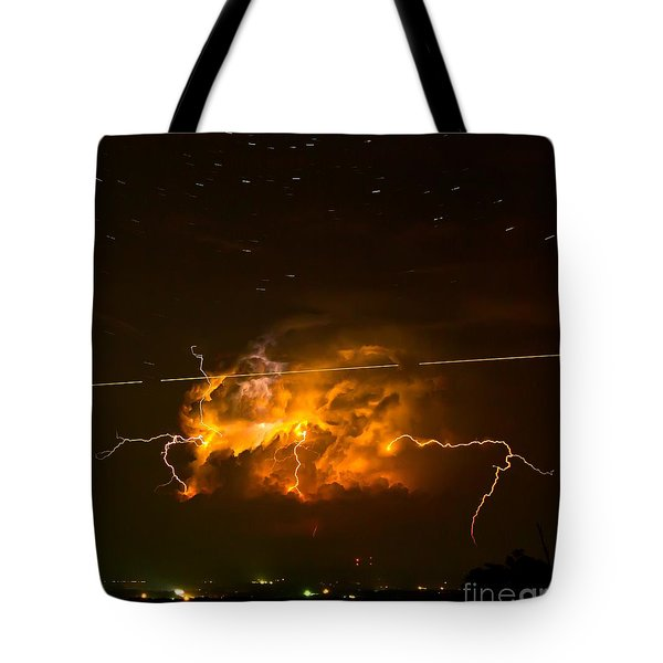 Enchanted Rock Lightning Tote Bag