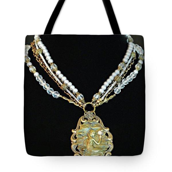 Enchanting Lady Choker Necklace Tote Bag by Renee Hong