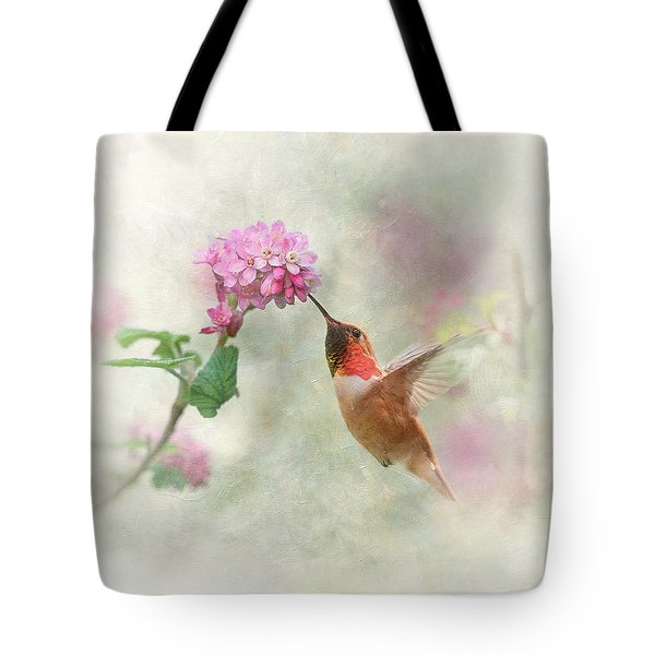 Tote Bag featuring the photograph Enchantment In The Garden by Angie Vogel