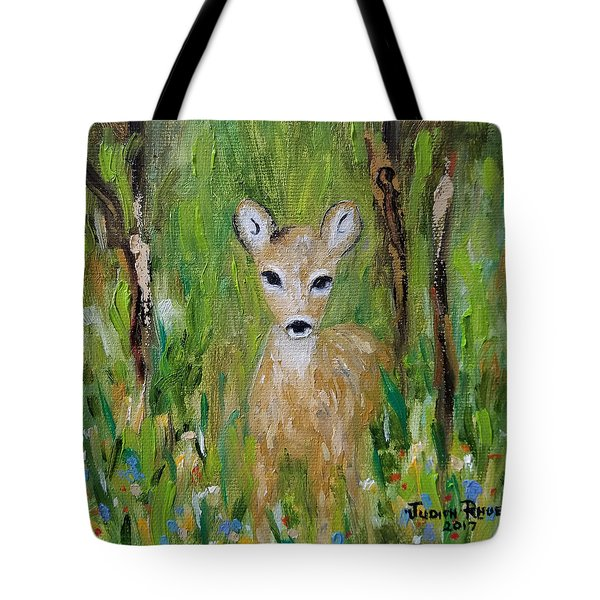 Tote Bag featuring the painting Enchantment by Judith Rhue