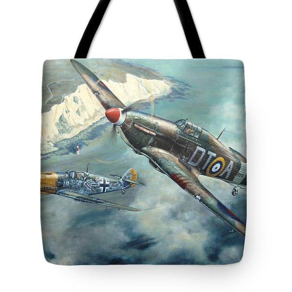 'encounter Over Beachy Head' Tote Bag