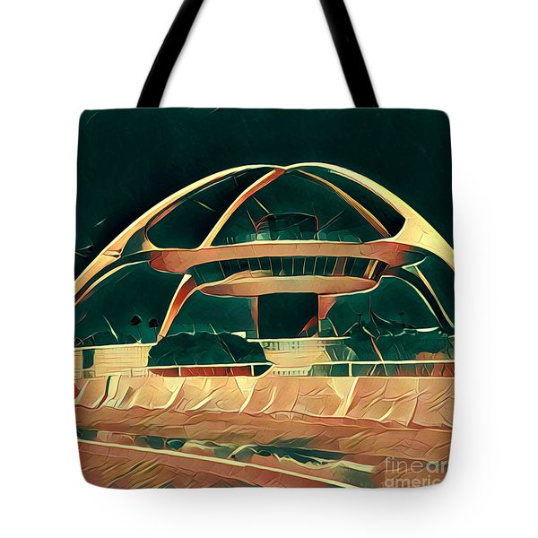 Encounter Restaurant Atop Lax Theme Building Tote Bag