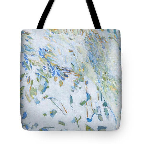 Tote Bag featuring the painting Encounter With An Angel by Linda Cull