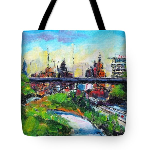 Tote Bag featuring the painting Encroaching Parkland by Les Leffingwell