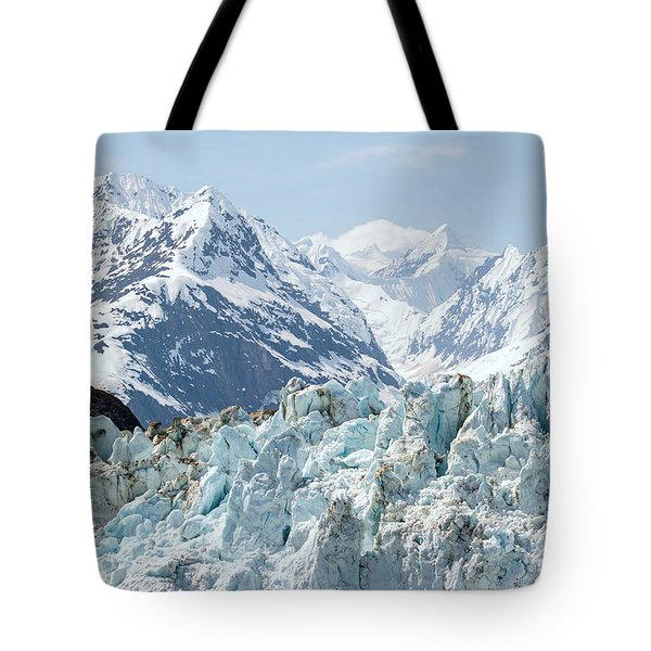 Glaciers End Of A Journey Tote Bag by Allan Levin