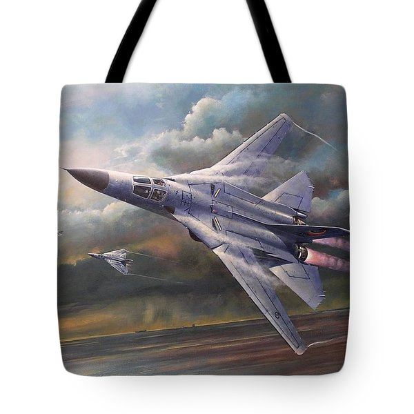 'end Of An Era' F111 Qld Final Flight Tote Bag