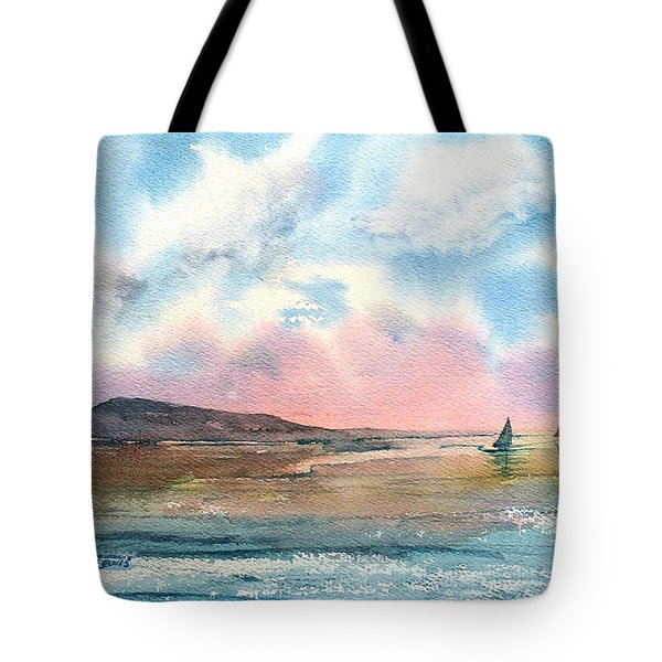 Tote Bag featuring the painting End Of Day by Debbie Lewis