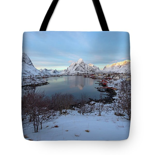 Tote Bag featuring the photograph End Of Day, Reine, Lofoten,  by Dubi Roman