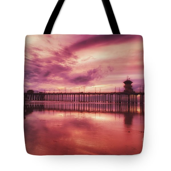 End Of Days At The Pier Tote Bag