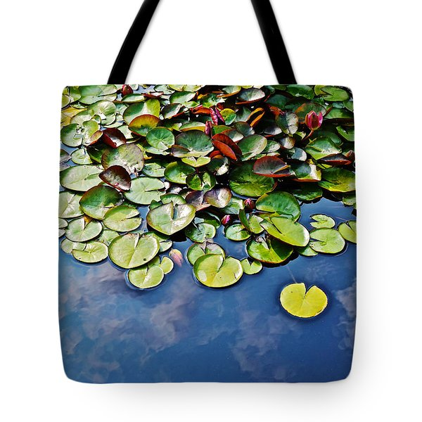 End Of July Water Lilies In The Clouds Tote Bag