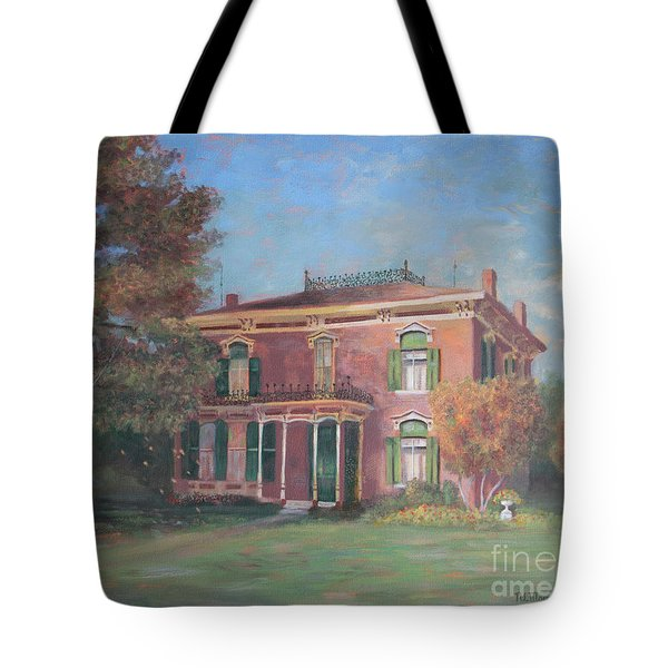 Tote Bag featuring the painting End Of Summer by Nancy Lee Moran