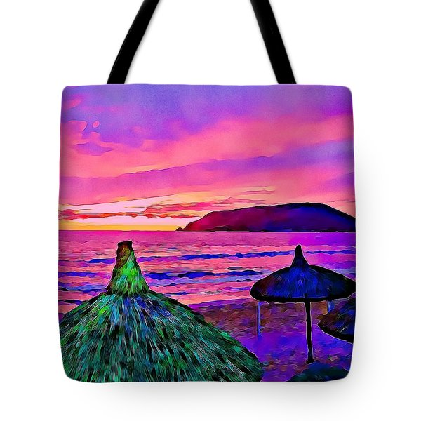 End Of The Beach Day In Mazatlan Tote Bag